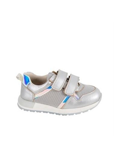 Kids A More Georgia Air File Detaylı Kız Çocuk Deri Ayakkabı  Gümüş